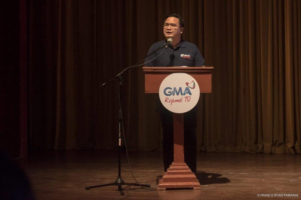 GMA Regional TV's Vice President and Head Oli Amoroso gives an overview of the Kapuso Campus Tour: The Regional Masterclass Series.
