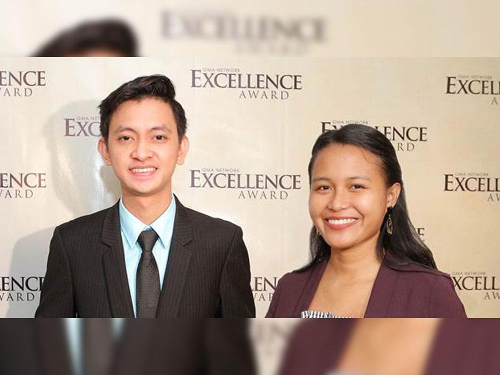 2019 GMA Network Excellence Awardees Ryan Delos Reyes Francisco (left) and Wenilyn Sabalo (right).