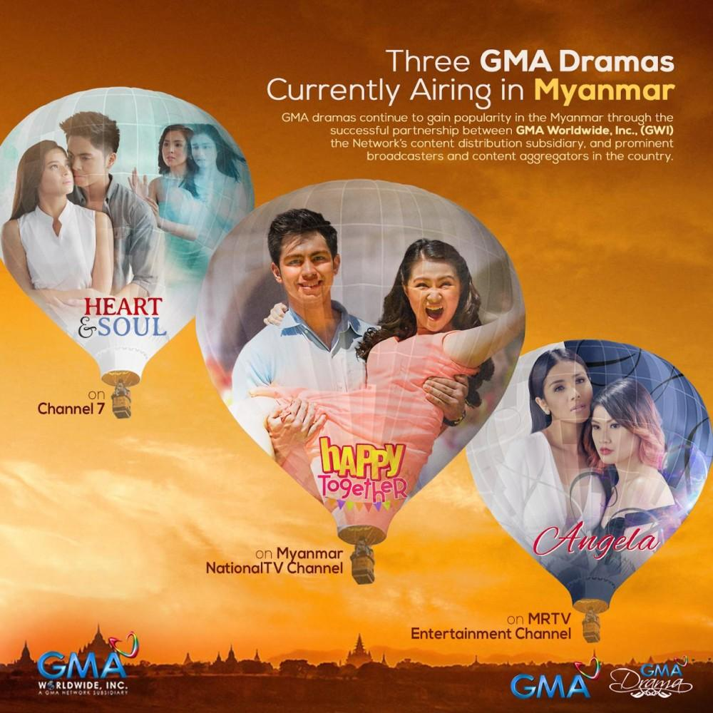 Three GMA Dramas Currently Airing in Myanmar | News and