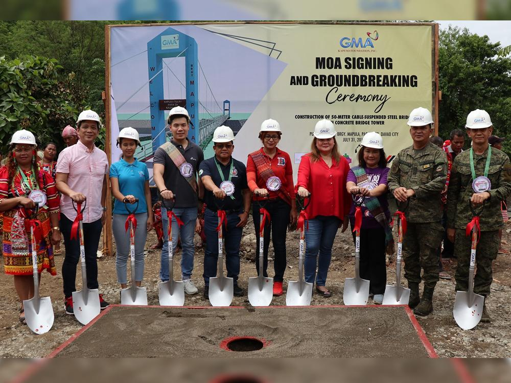 GMAKF Paquibato Bridge Groundbreaking