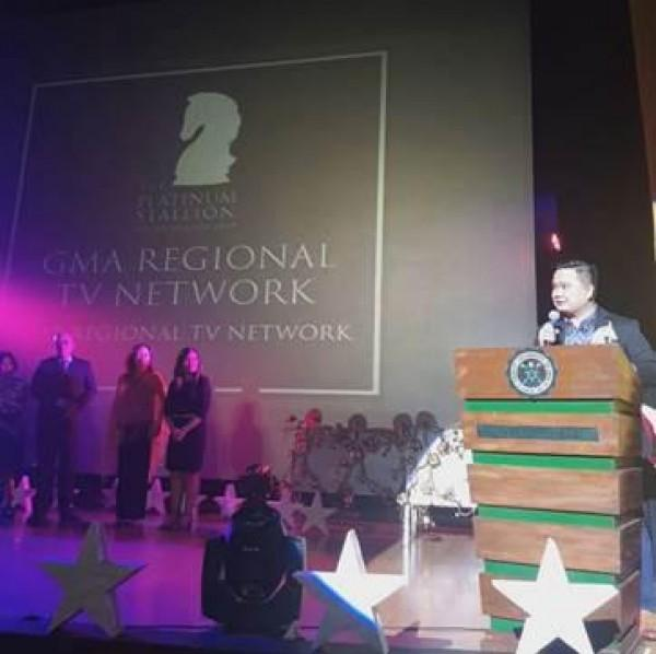 For the third year in a row, GMA Regional TV—led by its Vice President and Head Oliver Victor Amoroso—triumphed as the Best Regional TV Network award at the 2019 Platinum Stallion Awards.