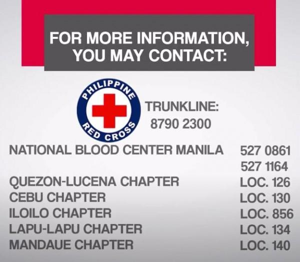 Philippine Red Cross number