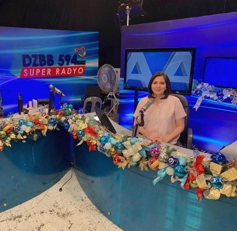 New DZBB radio anchor Kathy San Gabriel Photo taken from Kathy San Gabriel s Instagram account
