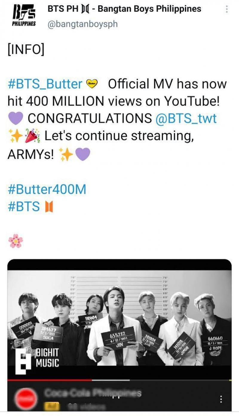 BTS's 'Butter' is now the group's 20th music video with 20 ...