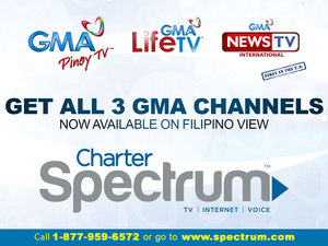 GMA international channels now available in Charter Spectrum
