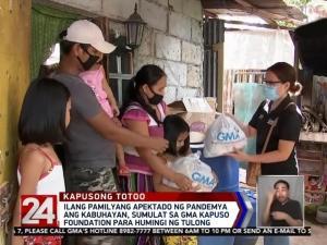 GMA Kapuso Foundation helps families