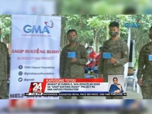 GMA Kapuso Foundation Sagip Dugtong Buhay Blood-Letting