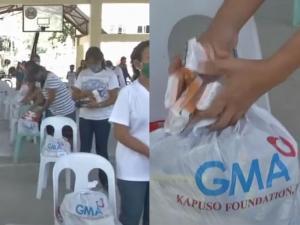 Relief goods na hatid ng GMA Kapuso Foundation