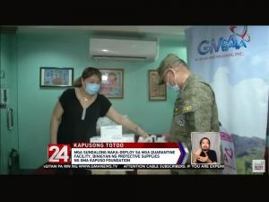GMA Kapuso Foundation helps soldiers