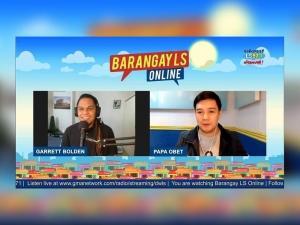 Garrett Bolden on Barangay LS Online
