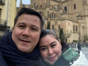 TV and radio achor Connie Sison and husband Chris Escudero